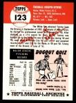 1953 Topps Archives #123  Tommy Byrne  Back Thumbnail