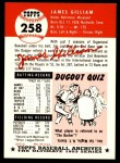 1953 Topps Archives #258  Jim Gilliam  Back Thumbnail