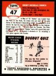 1953 Topps Archives #47  Bubba Church  Back Thumbnail