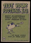 1972 Topps #344   -  Jim Turner Pro Action Back Thumbnail
