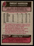 1977 Topps #82  Dwight Harrison  Back Thumbnail