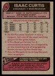 1977 Topps #10  Isaac Curtis  Back Thumbnail