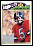 1977 Topps #27  Craig Morton  Front Thumbnail