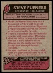 1977 Topps #9  Steve Furness  Back Thumbnail