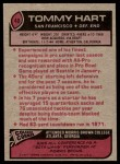 1977 Topps #40  Tommy Hart  Back Thumbnail