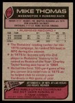 1977 Topps #115  Mike Thomas  Back Thumbnail