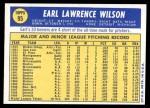 1970 Topps #95  Earl Wilson  Back Thumbnail