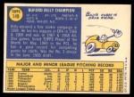 1970 Topps #149  Billy Champion  Back Thumbnail