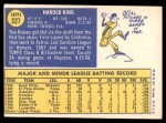 1970 Topps #327  Hal King  Back Thumbnail