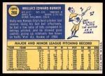 1970 Topps #266  Wally Bunker  Back Thumbnail