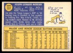 1970 Topps #537  Joe Morgan  Back Thumbnail