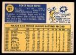 1970 Topps #397  Roger Repoz  Back Thumbnail