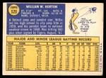 1970 Topps #520  Willie Horton  Back Thumbnail