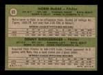 1971 Topps #93   -  Norm McRae / Denny Riddleberger Senators Rookies Back Thumbnail