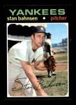 1971 Topps #184  Stan Bahnsen  Front Thumbnail