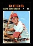 1971 Topps #14  Dave Concepcion  Front Thumbnail
