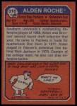 1973 Topps #318  Alden Roche  Back Thumbnail