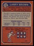 1973 Topps #220  Larry Brown  Back Thumbnail