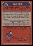 1973 Topps #263  Jim Hill  Back Thumbnail