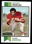1973 Topps #262  Woody Peoples  Front Thumbnail