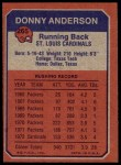 1973 Topps #265   -  Donny Anderson    Boyhood Photo Back Thumbnail