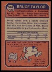 1973 Topps #346  Bruce Taylor  Back Thumbnail