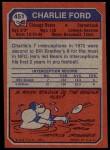 1973 Topps #451  Charlie Ford  Back Thumbnail
