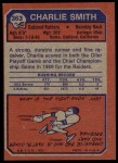 1973 Topps #363  Charlie Smith   Back Thumbnail