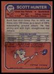 1973 Topps #366  Scott Hunter  Back Thumbnail