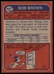 1973 Topps #407  Bob Brown  Back Thumbnail