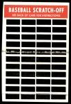 1970 Topps Scratch-Offs  Harmon Killebrew     Back Thumbnail