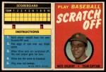 1970 Topps Scratch-Offs  Nate Colbert  Front Thumbnail