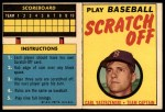 1970 Topps Scratch-Offs  Carl Yastrzemski  Front Thumbnail