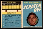 1970 Topps Scratch-Offs  Harmon Killebrew     Front Thumbnail