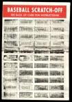 1970 Topps Scratch-Offs  Tom Seaver  Back Thumbnail