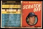 1970 Topps Scratch-Offs  Claude Osteen    Front Thumbnail