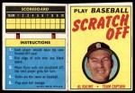 1971 Topps Scratch-Offs  Al Kaline  Front Thumbnail