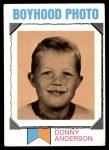 1973 Topps #265   -  Donny Anderson    Boyhood Photo Front Thumbnail