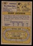 1974 Topps #366  Ernie Jackson  Back Thumbnail