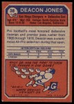 1973 Topps #38  Deacon  Jones  Back Thumbnail
