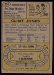 1974 Topps #254  Clint Jones  Back Thumbnail