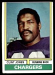 1974 Topps #254  Clint Jones  Front Thumbnail