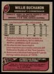 1977 Topps #402  Willie Buchanon  Back Thumbnail