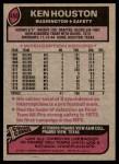 1977 Topps #450  Ken Houston  Back Thumbnail