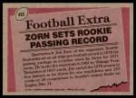 1977 Topps #455   -  Jim Zorn Record Breaker Back Thumbnail