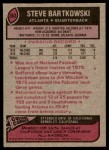 1977 Topps #363  Steve Bartkowski  Back Thumbnail