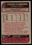 1977 Topps #399  Craig Clemons  Back Thumbnail