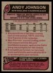 1977 Topps #401  Andy Johnson  Back Thumbnail