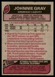 1977 Topps #471  Johnnie Gray  Back Thumbnail