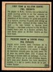 1971 O-Pee-Chee #253   -  Phil Esposito 1st All-Star Team Back Thumbnail